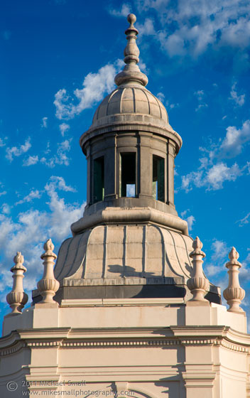 Architecture photo of the Pasadena City Hall tower