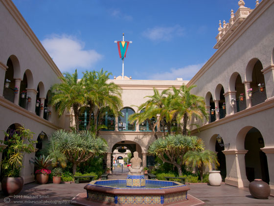 Photograph of a plaza in Balboa Park, San Diego