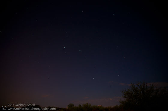 Photo of the big dipper