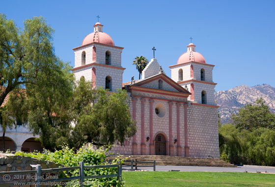 Photograph of Santa Barbara Mission in California