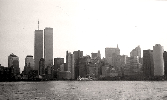 Photograph of the World Trade Center on September4, 2001