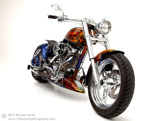 Photo of a Steed custom motorcycle