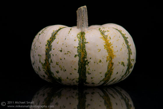 Photo of a white pumpkin