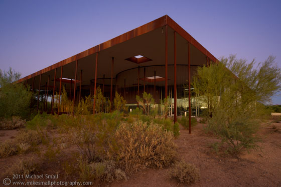 Photography of the Desert Broom Library in Phoenix, AZ