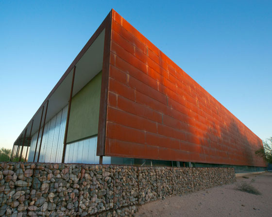Architectural photograph of the Desert Broom Library in Phoenix