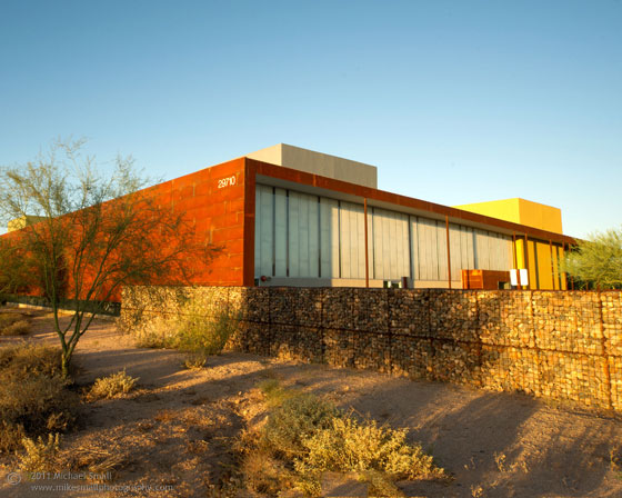 Architectural photo of the Desert Broom Library branch in Phoenix, AZ