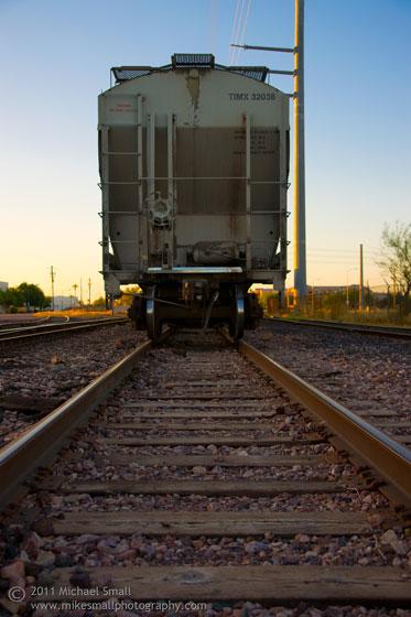 Photograph of a train car in Chandler, AZ