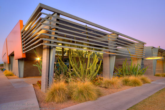 Architectural photograph of the fitness & wellness center at SCC