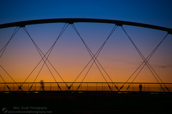 Photo of the pedestrian bridge over Tempe Town Lake