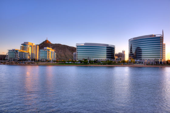 Photograph of Hayben Ferry in Tempe at twilight