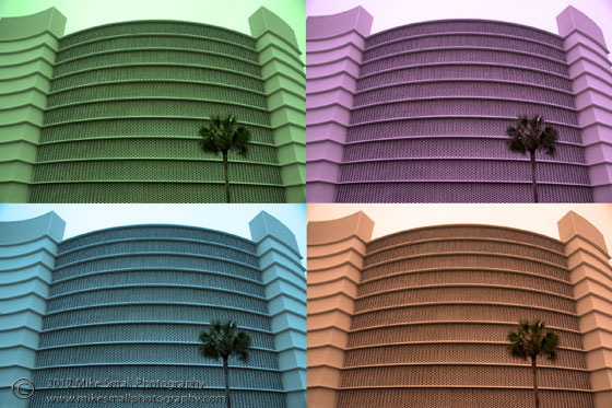 Pop art photography of a high rise condo in Florida