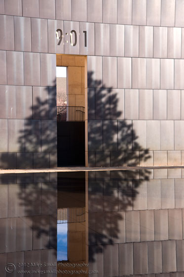 Photograph of the Oklahoma City Memorial 9:01 Gate