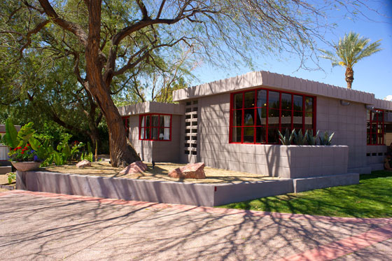 Photo of the Benjamin Adelman House by Frank Lloyd Wright
