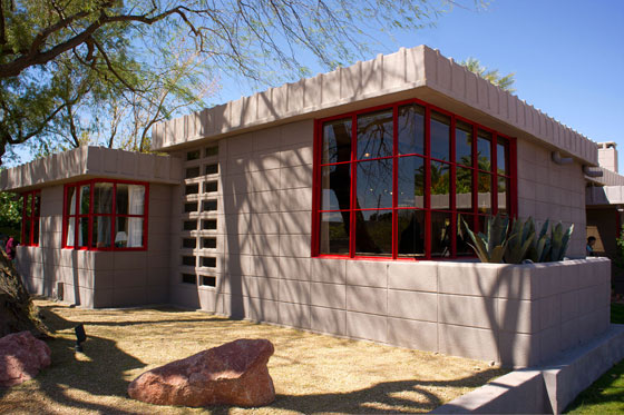 Architectural photo of the Benjamin Adelman House in Phoenix