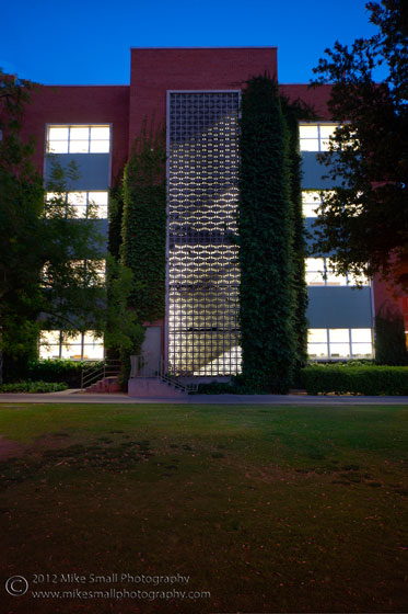 Architecture photography of the University of Arizona Science Library